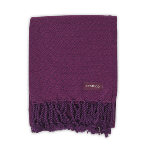 Partridge Eye Towel - Purple Passion