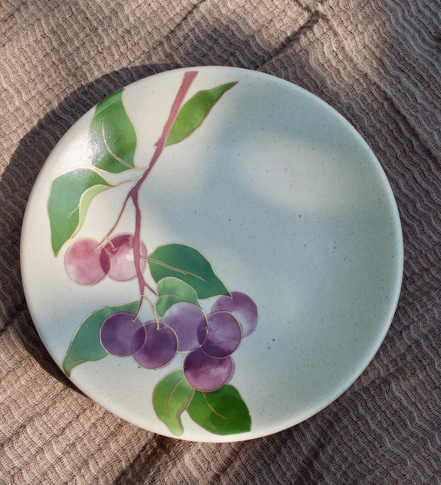Postcards from Simla - Plum Appetizer Plates (Set of 6)