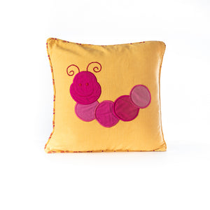Load image into Gallery viewer, Applique Caterpillar Cushion Cover