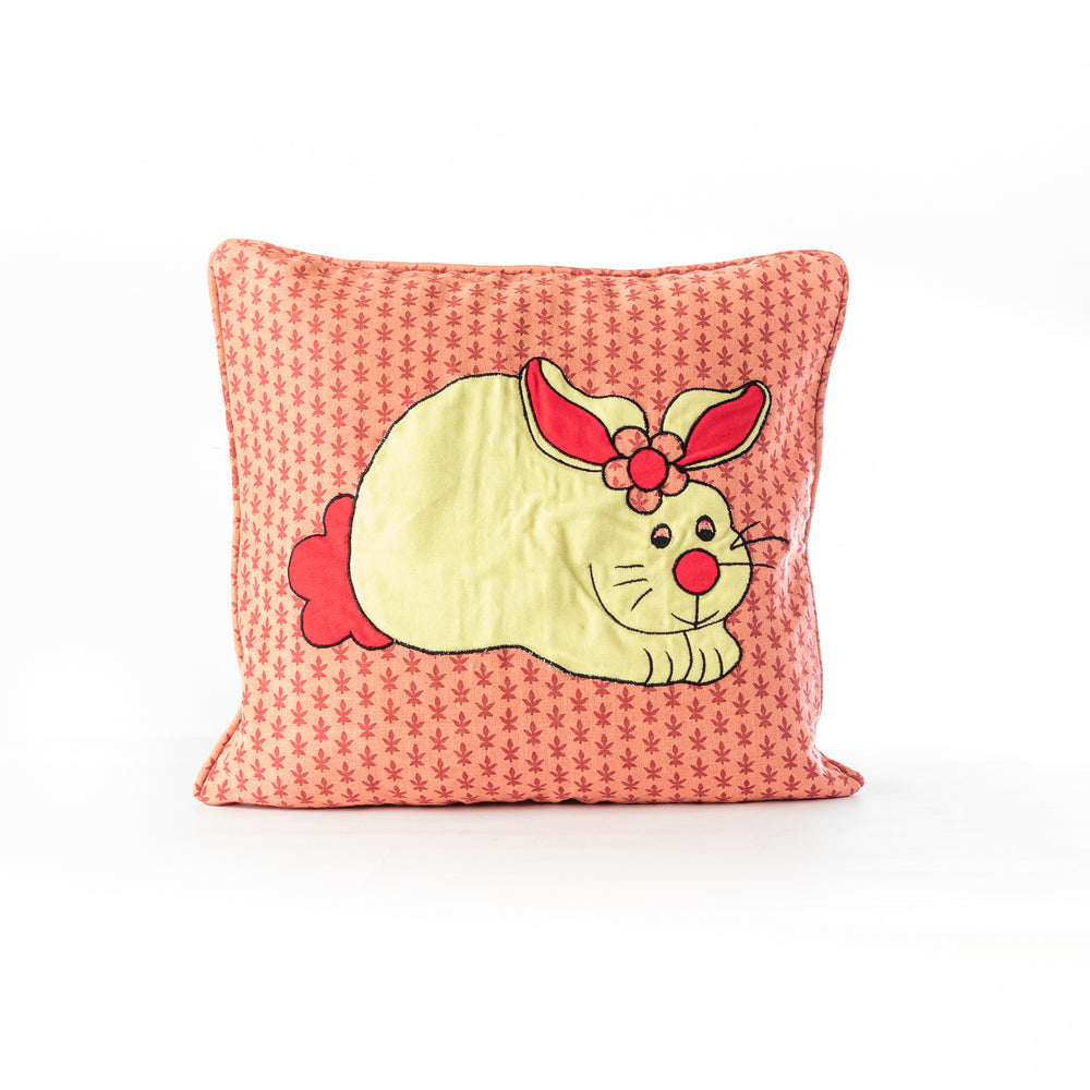 Applique Bunny Cushion Cover