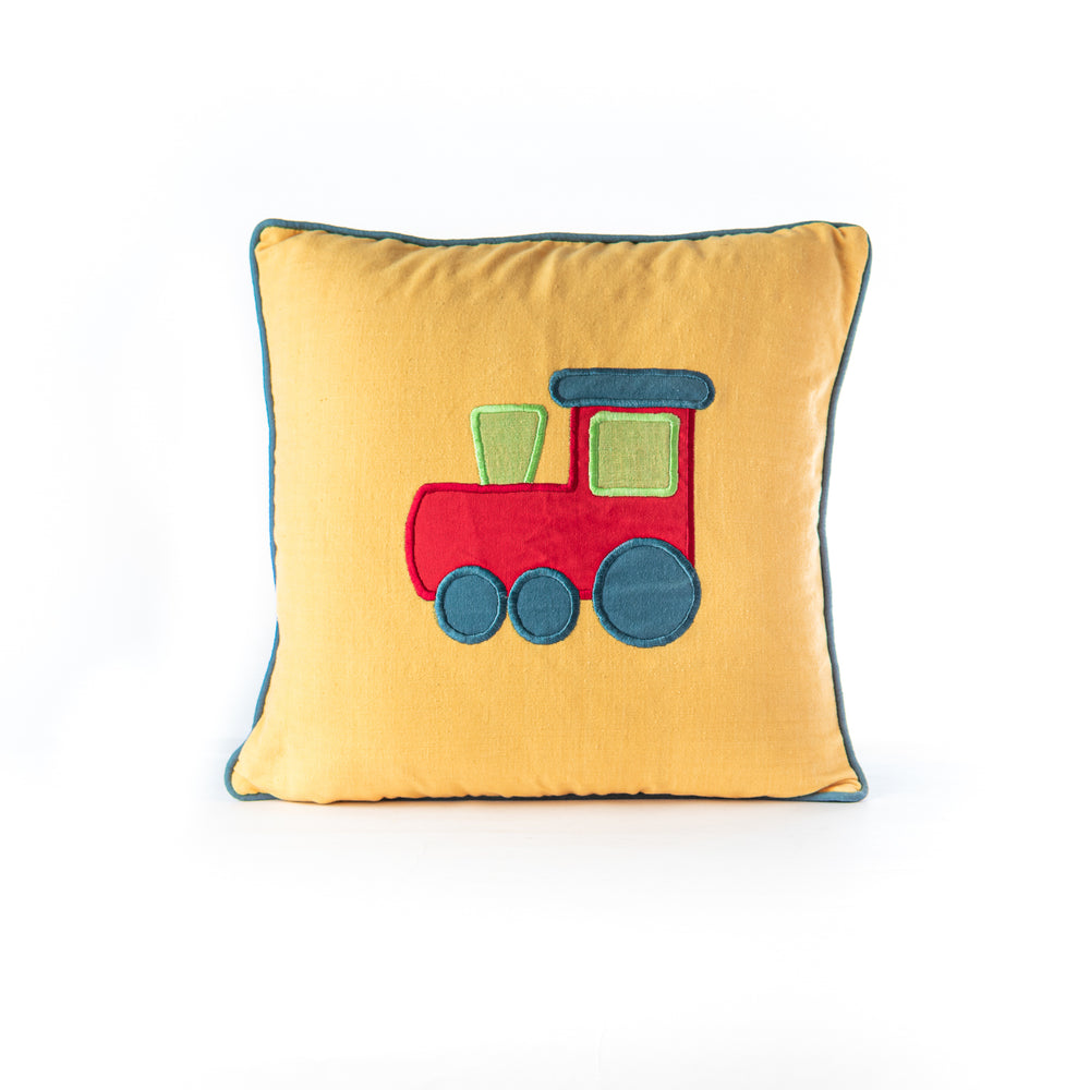 Load image into Gallery viewer, Applique Train Cushion Cover