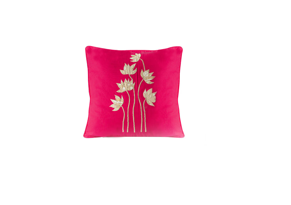 Lotus Applique Cushion Cover