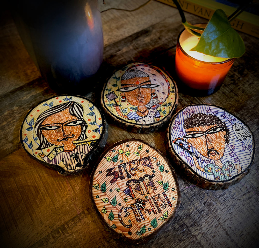 Shaheb Bibi Gholam Wooden Coasters