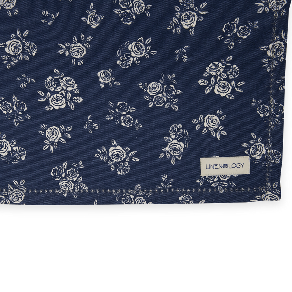 Load image into Gallery viewer, Table Runner - English Rose - Navy