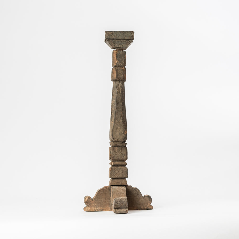 Vintage Wooden Cross Lamp Stand