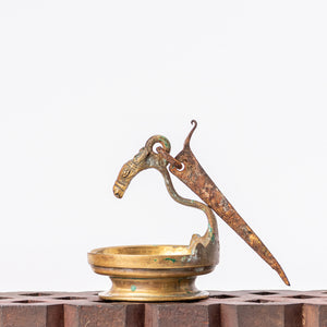 Load image into Gallery viewer, Vintage Brass Horse Lamp