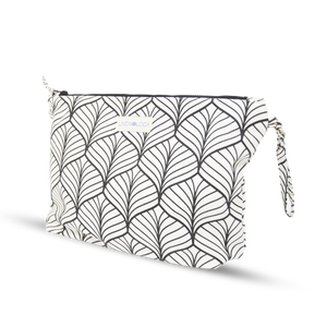 Wash Bag - Abstract - White