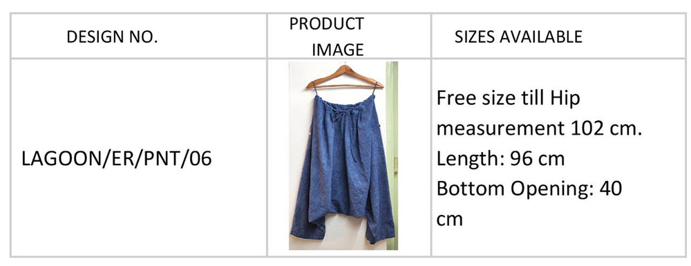 Load image into Gallery viewer, Lagoon natural indigo drop crotch harem pants in handspun and handwoven cotton