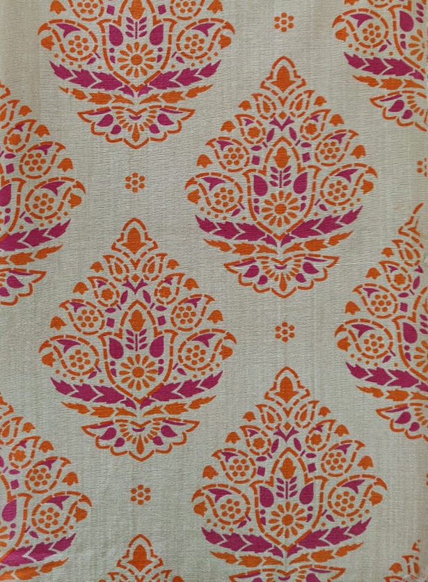 Load image into Gallery viewer, Rangoli - Pink and Orange on Khaki