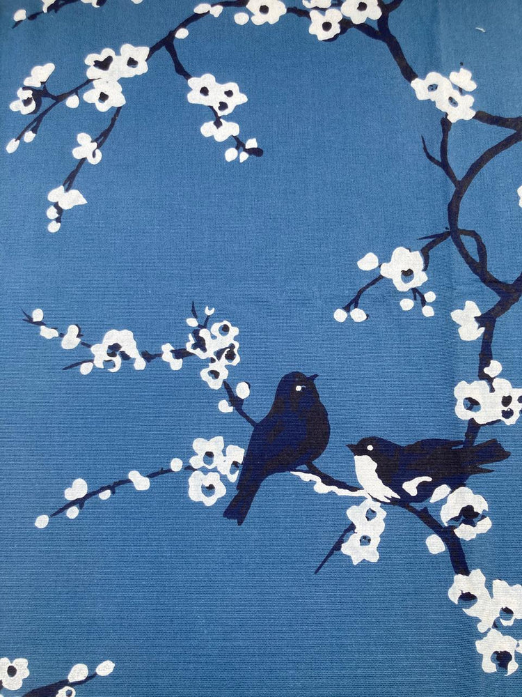 Load image into Gallery viewer, Cherry Blossom Birds - Blue