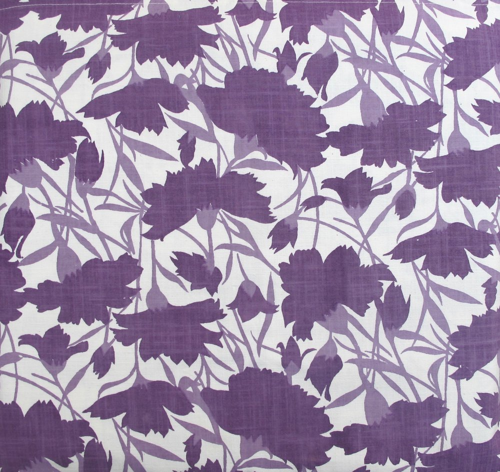 Carnations - Purples on White