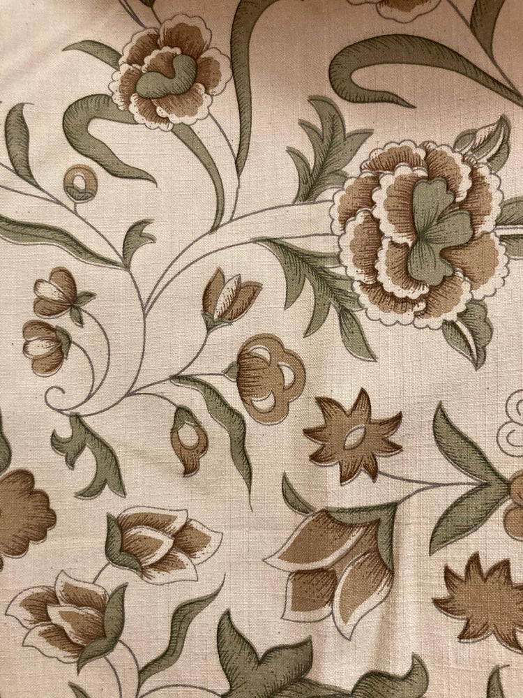 Garden - Beige and Sage Green on Cream
