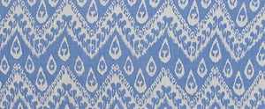 Load image into Gallery viewer, Chevron Ikkat - Blue on White