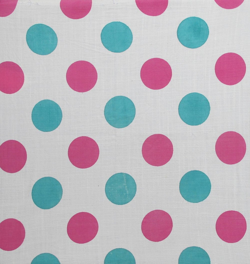 Dots - Pink and Blue on White