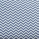Chevron - Blue and White Woven