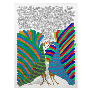 GOND : Peacocks Showing Off!