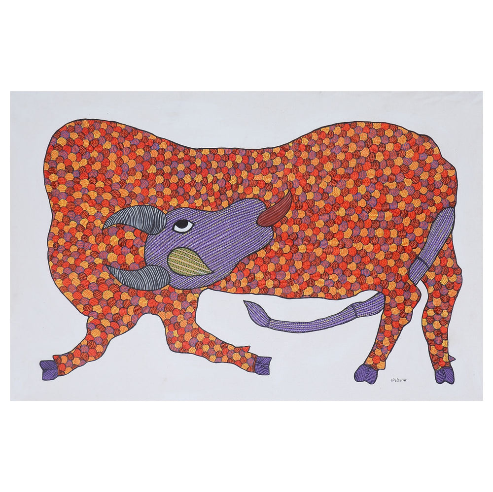 GOND : Licking Cow