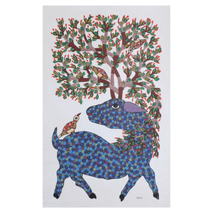 GOND : Deer and Bird