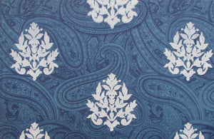 Kalka with Motif - White on Blue
