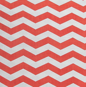 Lazy Chevron - Orange on Off White