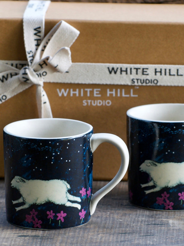 Midnight in Mashobra Tara Fredrick Mugs (Set of 2)