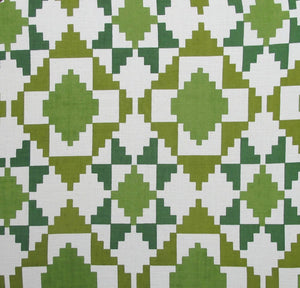Mosaic - Greens on Off White