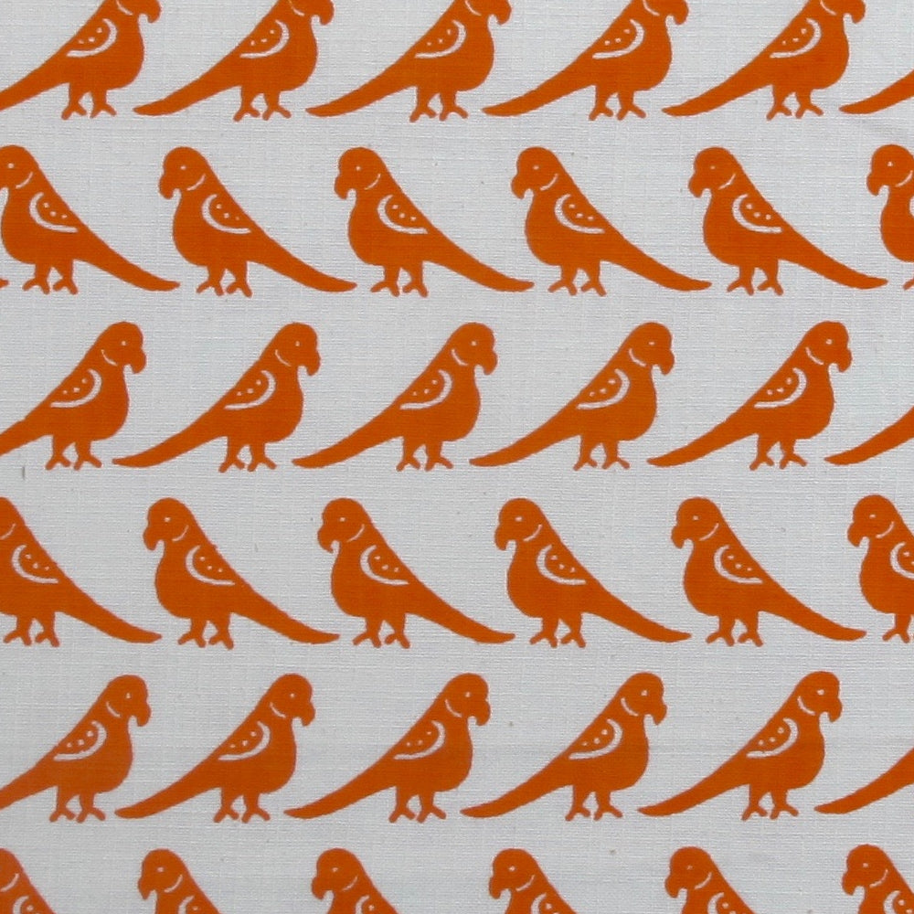 Load image into Gallery viewer, Parrots - Orange on White