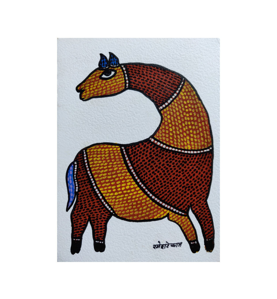 Load image into Gallery viewer, GOND : Postcard Horse