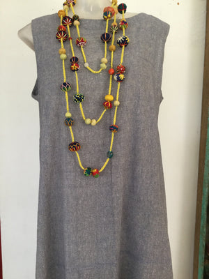 Yellow Triple Length Necklace/Belt