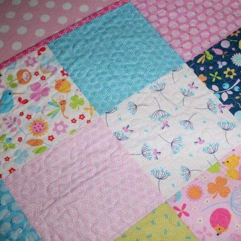 Wildflower Meadow Patchwork Cot Quilt