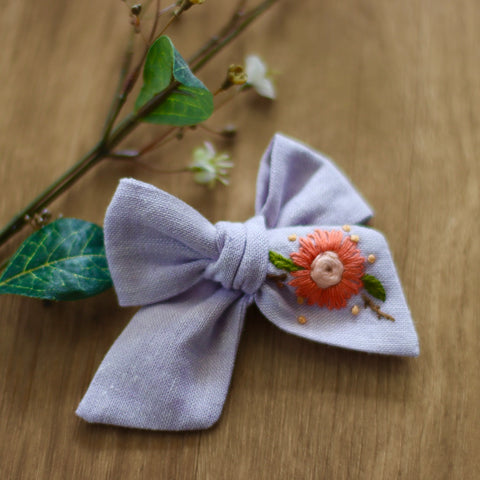 Gi Gi Mauve Embroidered Bow
