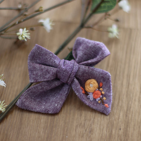 Tabitha Embroidered Bow