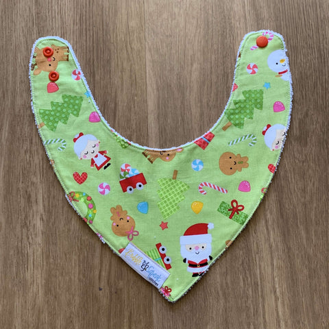 Christmas Novelty Lime Bandana Dribble Bib
