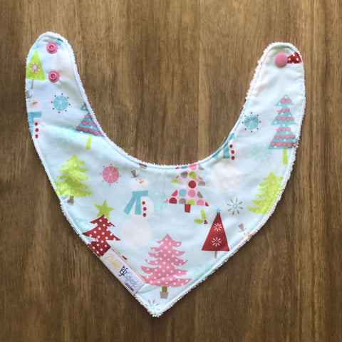 Christmas Basics Main Blue Bandana Dribble Bib