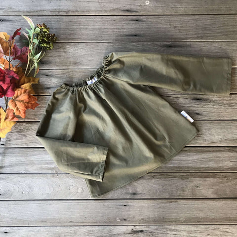 Lily Blouse in Dark Olive