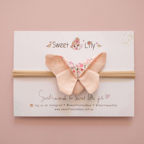 Peach Delight Butterfly Clip / Headband / Pigtail Set
