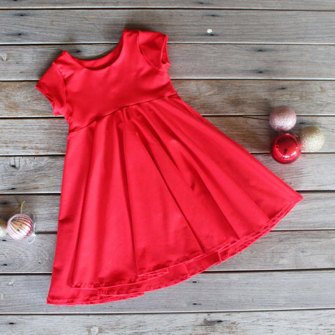 True Red Cap Sleeve Knit Dress