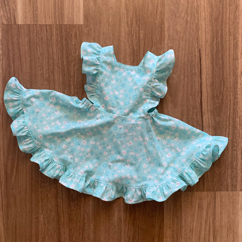 Mini Vintage Frilly Dress/Romper in Gentle Petals