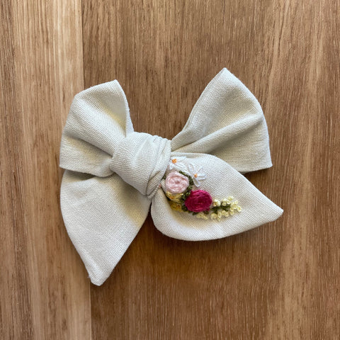 Penny Pinwheel Hand Embroidered Bow