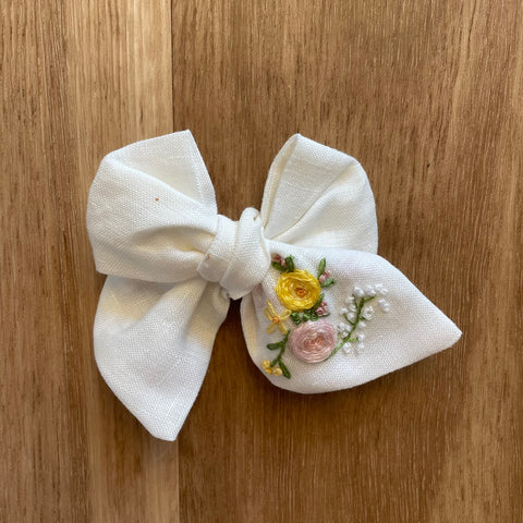 Harper Pinwheel Hand Embroidered Bow