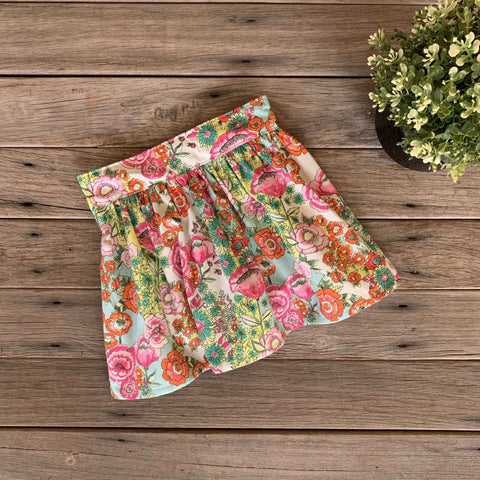 Flat Front Skirt in Wild Bloom