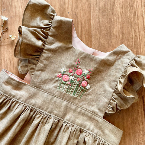 Elise Embroidered Pinafore