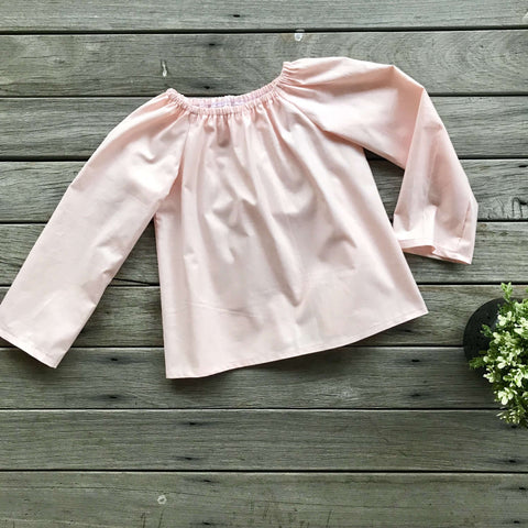 Lily Blouse in Light Peach