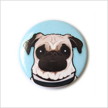 Load image into Gallery viewer, Pug Pin Badge