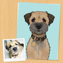 Load image into Gallery viewer, Custom Colour Pet Portrait