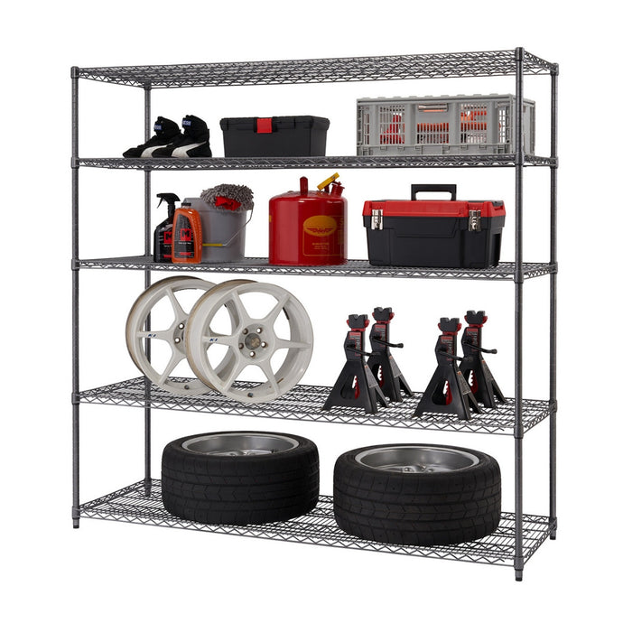 5-Tier Wire Shelving | NSF | Black Anthracite®