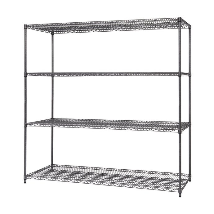 4-Tier Wire Shelving | NSF | Black Anthracite