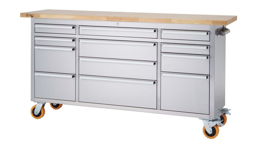 Stainless Steel Rolling Workbench
