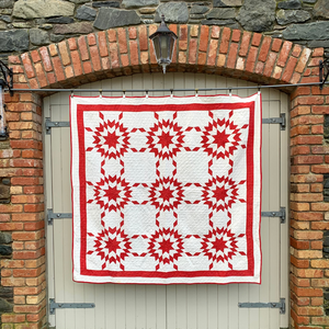 The Red Starred Quilt (c.1870)
