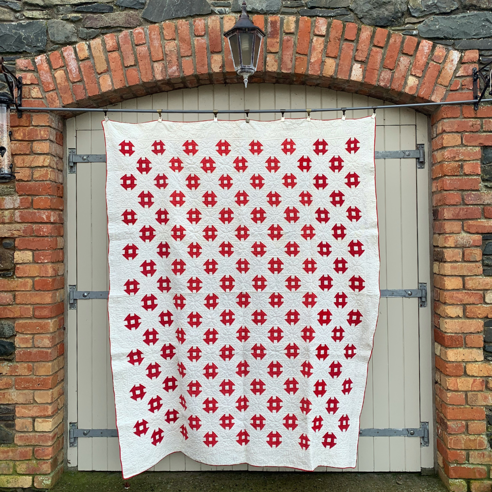 The Red & White Churn Dash Quilt (c.1900)